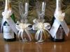 Наградная розетка Свадебные бокалы и шампанское