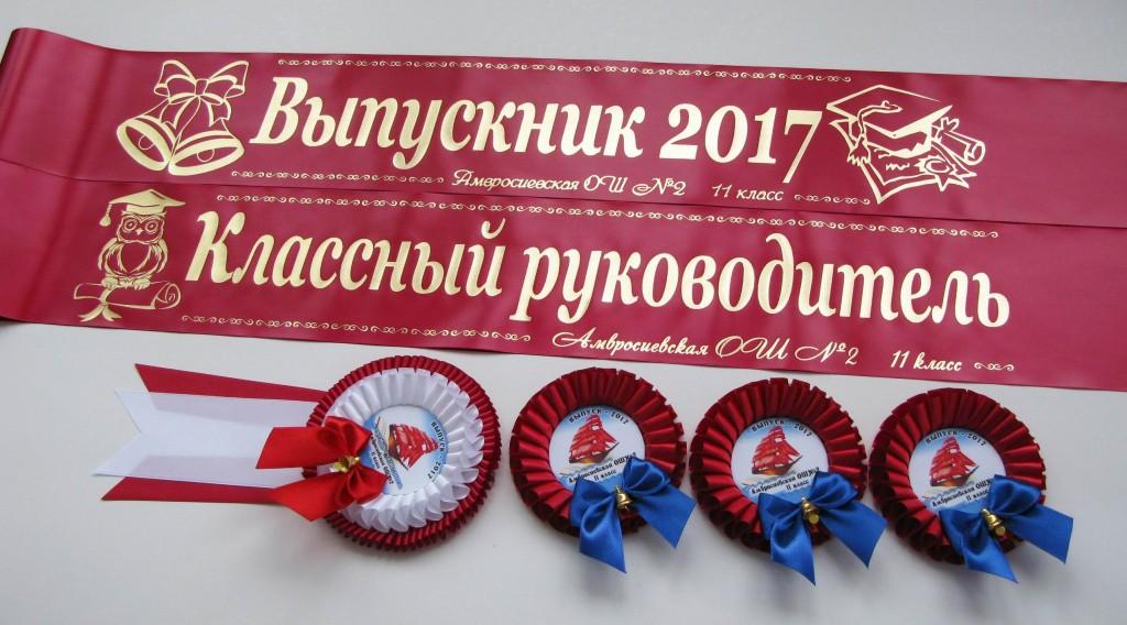 Наградные розетки выпускникам 2017