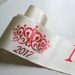 Кремовые наградные ленты выпускникам