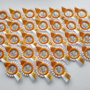 Наградная розетка Парус для выпускников начальной школы