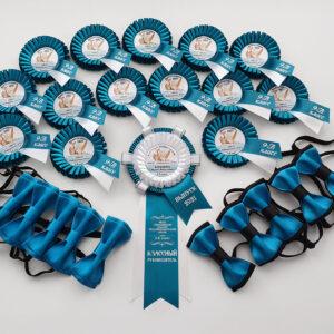 Набор именных розеточек и галстук-бабочек на выпускной!