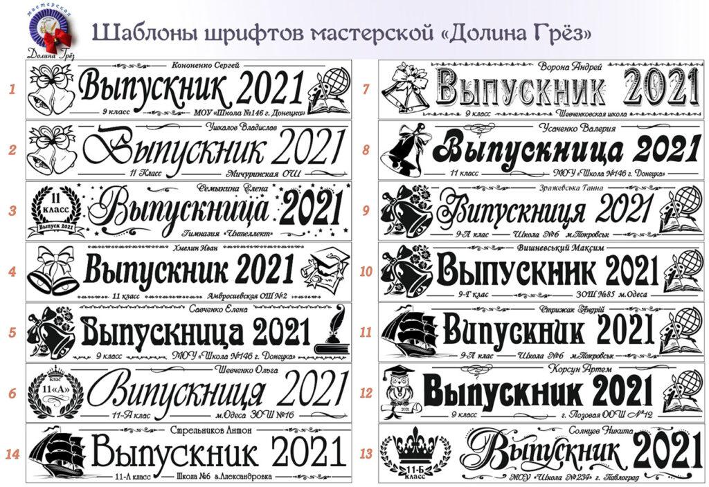 Основные макеты шрифтов